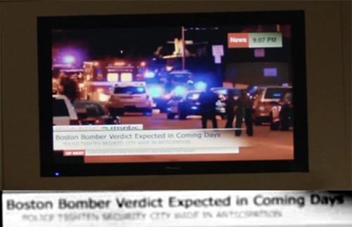Boston Bomber verdict ~April 14, on Wellicks' TV from (ep 8)