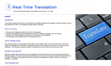 RealTimeTranslation.net